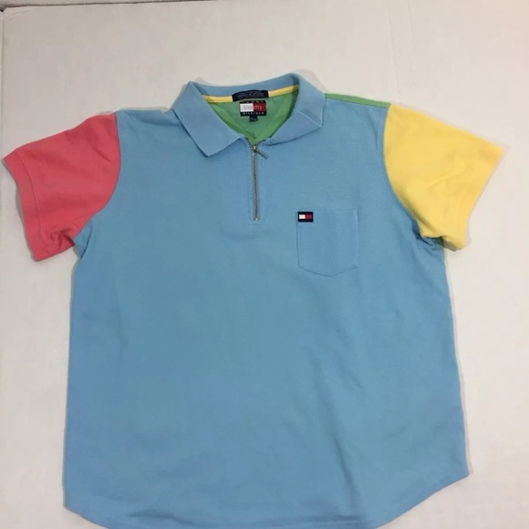 0b5005dd2 Tommy Hilfiger Shirts & Tops | Boys Vintage 90s Colorblock Shirt ...